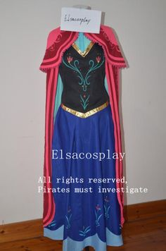 Anna Costume Frozen Anna Dress Anna Dress Princess by Elsacosplay