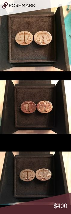 Rare Tiffany & Co. Scales of Justice Cufflinks Scales of Justice Tiffany & Co. Cufflinks//18k gold & Sterling Silver//very Rare Hard to find//Perfect Gift. Comes with pouch//Some scratches//See Photos. Tiffany & Co. Accessories Cuff Links