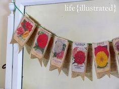 Seed Packet Garland - LOVE this! // life illustrated