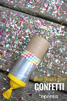 New Years Eve Party Idea for Kids Confetti Poppers