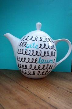 Sweethearts teapot (customisable) - by heyemmaline on madeit