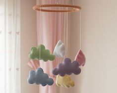 Cloud Baby Mobile Cloud Nursery Mobile Soft by DreamFlakeShop Cloud Nursery Decor, Clouds Nursery, Rainbow Nursery, Baby Room Decor, Nursery Themes, Themed Nursery, Nursery Ideas, Prince Nursery, Childrens Play Tents