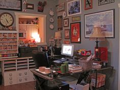 Did not even think that I needed computer space. Oh yes.  Also a jewelry area, scrapbooking of course, things kids can touch, such as glue gun, misc paints.   Crafts the I have just a tiny bit of, photography area
