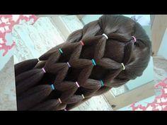 peinados de mariposa faciles para cabello largo bonitos y rapidos para niña en fiestas y la escuela - YouTube