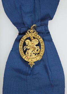 Order of the Garter: Emperor Alexander II's investiture badge Order Of The Garter, Military Orders, Chivalry, Military Art, Names Of Jesus, British Royals, Badges, Decorations, History
