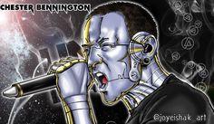 "Joyeishak Art ✍️📸🎥 en Instagram: ""Cyber Fan Art: @chesterbe @linkinpark  By: @joyeishak_art  Homenaje a una gran banda, a un gran artista. . . . #linkinpark #linkin…"" Linkin Park, Cyber, Darth Vader, Fan Art, Instagram, Fictional Characters, Make Art, Artists, Portraits"
