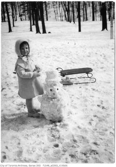 Was browsing the Toronto Archives and put together a collection of vintage Toronto winter photographs from ca. 1890 - 1950 of past snowfalls in Toronto. Toronto Winter, Mystery Of History, Vintage Winter, Winter Pictures, Dear God, Montreal, Squirrel, Vintage Photos, Snow Man