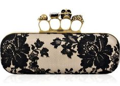 *Almost too badass. haha Alexander McQueen knuckle duster clutch.