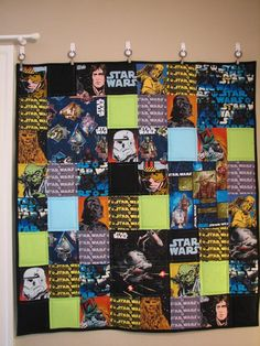 Looking for quilting project inspiration? Check out Star Wars Quilt by member Ms. Elaineous.