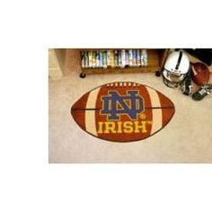Notre Dame Fighting Irish Football Rug #ND