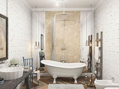 8 különböző, szép fürdőszoba design - ötletek és inspiráció | Lakberendezés, Lakberendező, Lakberendezési Ötletek, Építészet