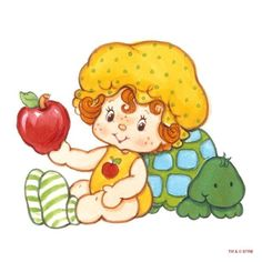 Strawberry Shortcake's Apple Dumpling and Teatime Turtle Strawberry Shortcake Cartoon, Macarons, Raspberry Tarts, Apple Dumplings, Chibi, Cartoon Posters, Dibujos Cute, Old Cartoons, Happy Mom