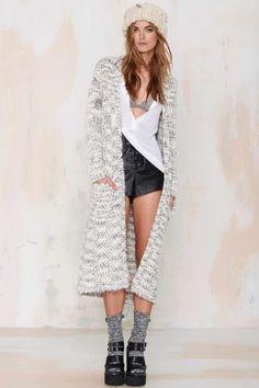 Leila Knit Duster Coat - Jackets + Coats