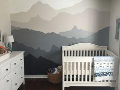 Woodland nursery. Gender neutral woodland nursery. DIY. Gray and white nursery.