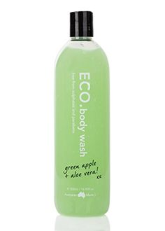ECO Body Wash Green Apple  Aloe Vera 500ml 169 oz -- Want additional info? Click on the image.
