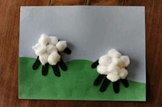 This has a lot of different sheep activities. Sheep handprint craft parable of the lost sheep. Could also print hand with paint.