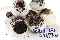 Oreo Truffles - easy and simple.  Had trouble covering with melted chocolate....but was my first time.  Make them smaller than you think you should.