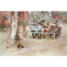 """Kunstdruck """"Frühstück unter der großen Birke"""""""