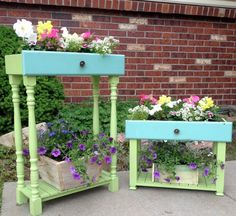 Be ready to repurpose your old drawers! You won't regret it! I love planters and these have such fantastic whimsy! I actually have an old dresser I was going to put on the curb for free takers, but think I just might need to keep the drawers for myself