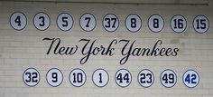 New York Yankees Retired Numbers, photo taken by Michael G. Baron
