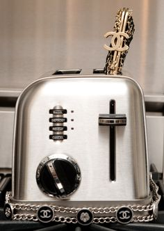 Chanel couture toaster!