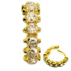 Bollywood Indian CZ Studded Hinged Hoop Ring Nose by KarizmaJewels, $65.00 @Sylvia Kawa  found one!