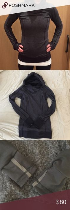 Lululemon think fast hoodie in herringbone Worn couple times, new like condition with no flaws. soft and warm hoodie with a generous size hood. Sorry no trade! lululemon athletica Tops Sweatshirts & Hoodies