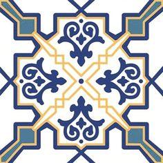 Adesivo para Azulejo Português Estampado 16 peças