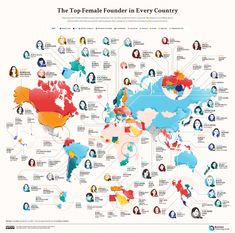 Mapped: Most valuable female-founded companies across 102 countries