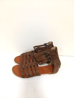 95f5d61457be8 8 usa brown keen women s leather sandals strapped outdoor shoes flip flops  new Leather Sandals