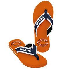 f68dc8000c9cfa Chicago Bears NFL Mens Team Color Contour Flip Flops. Denver Broncos ...