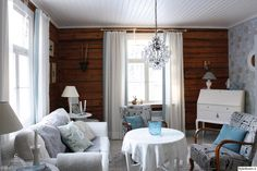 inspiroivia kuvia aiheesta m kki scandinavian cottagelog housescabin ideascountry stylecountry Farmhouse Design, Farmhouse Decor, E Room, Wooden House, Country Style, Country Living, Log Homes, Interior Decorating, Sweet Home