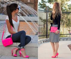 How about adding pink to your shoes & handbags collection? Wouldn't it bring a nice finishing touch to your summer outfit? #handbag #handbags #outfit #fashion
