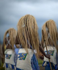 Africa | Intore dancers in Ibwiwachu village, Rwanda | The Intore dancers have been active poachers for centuries, they have an amazing traditional dance, using headresses that go up in the sky | © Eric Lafforgue