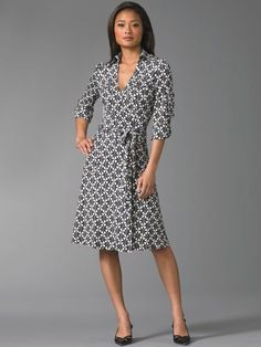 wrap dress... I wish I could afford Diane von Furstenberg...