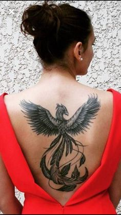 Beautiful, with a bit of red and half the size - Beautiful, with a bit of red a. - Beautiful, with a bit of red and half the size – Beautiful, with a bit of red and half the size - Phoenix Back Tattoo, Phoenix Bird Tattoos, Phoenix Tattoo Design, Full Body Tattoo, New Tattoos, Body Art Tattoos, Sleeve Tattoos, Tatoos, Back Tattoo Women