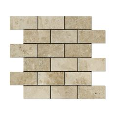 2 X 4 Cappuccino Marble Polished Brick Mosaic Tile