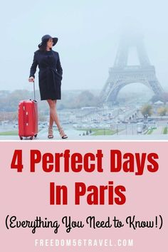 The perfect Paris itinerary for 4 beautiful days! Great for Spring, Summer or Winter, this 4 day Paris itinerary will let you see all that beautiful Paris is famous for! Paris France Travel, Paris Travel Guide, Europe Travel Tips, Travel Advice, Travel Destinations, Travel Guides, Paris Bucket List, 4 Days In Paris, Paris Itinerary