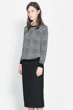 30 zara buys: tweed sweater by zara.