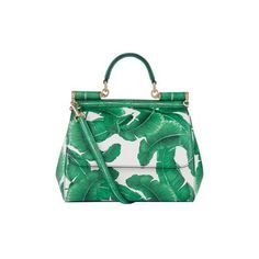 Dolce & Gabbana Medium Sicily Leaf Print Top Handle Bag (25.005.745 IDR) ❤ liked on Polyvore featuring bags, handbags, tote bags, dolce gabbana purses, top handle handbags, shoulder strap purses, tote handbags and tote bag purse