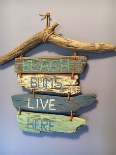 "Do something about ""Lake Life"" Driftwood Sign Beach Bums Live Here // Driftwood Beach Decor // Driftwood Art // Nautical Decor // Coastal Decor Driftwood Shores, Driftwood Beach, Driftwood Art, Driftwood Signs, Driftwood Projects, Driftwood Ideas, Coastal Bedding, Coastal Bedrooms, Trendy Bedroom"