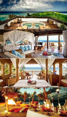 #1 dream vacation. Necker Island. I WILL get there someday.
