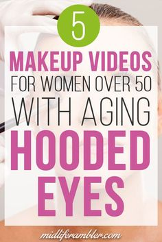 Hooded eye makeup tutorial for hooded eyes and crepey eyelids. Step-by-step instructions for makeup over 50 to teach you how to lift and flatter droopy eyelids. Eye Makeup Tips, Makeup Videos, Makeup Tricks, Makeup Tutorials, Makeup Basics, Face Makeup, Eyeshadow Tutorials, Slimmer Face, Hooded Eye Makeup Tutorial