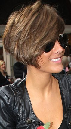 Frankie Sandford Showcases A Super-Sized Hairstyle Leaving The BBC Studios, 2010