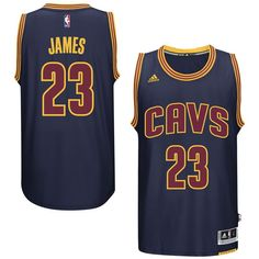 2d31b6f07f0e LeBron James Cleveland Cavaliers adidas Player Swingman Jersey - Navy
