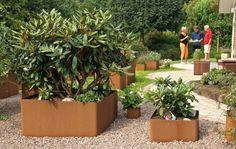 Corten steel planter. Danish design