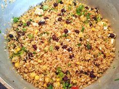 Quinoa black bean and corn salad