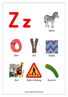 Free Printable English Worksheets - Alphabet Reading (Letter Recognition And Objects Starting With Each Letter) - MegaWorkbook Alphabet Sounds, Alphabet Phonics, Alphabet Charts, Alphabet Worksheets, Alphabet Activities, Kindergarten Worksheets, Preschool Activities, Printable Alphabet, Alphabet Letters Images