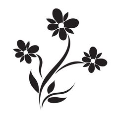 flower, icon, decor, vector by Sunshine on @creativemarket