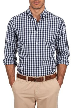 Country Road indigo gingham shirt.
